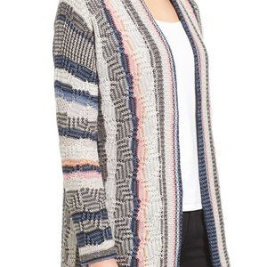 Nic+Zoe striped blooming stripes cardigan
